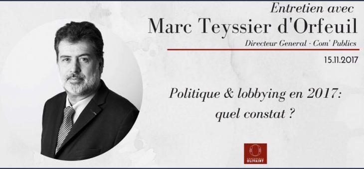 La Conférence Olivaint reçoit Marc Teyssier d'Orfeuil – le 22/11/2017 à 19h45