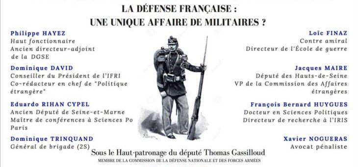 Colloque annuel de la Conférence Olivaint : la Défense Française : une unique affaire de militaires ? – le 14/05/2018 de 17h30 à 20h30