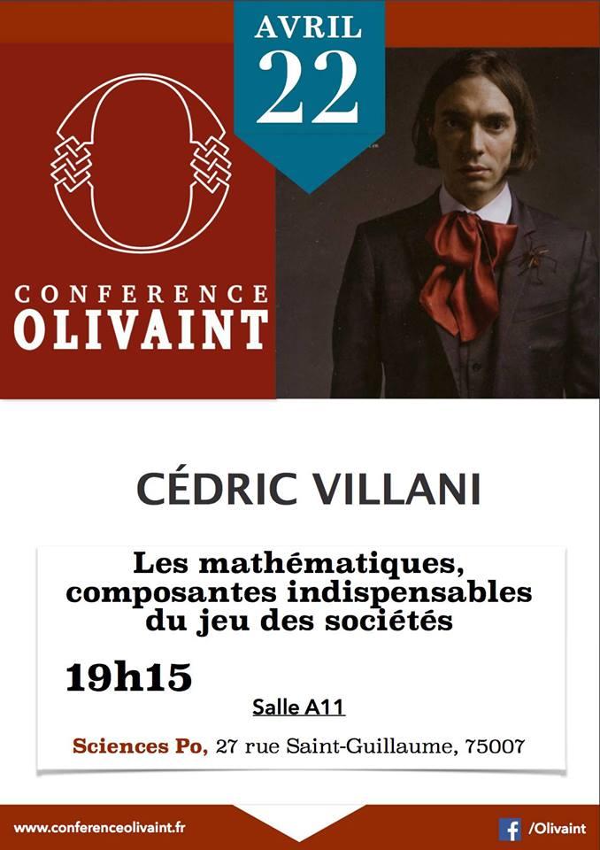 Cédric Villani est l'invité de la Conférence Olivaint