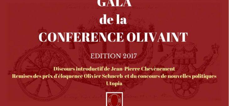 Retour sur le Gala de la Conférence Olivaint – édition 2017