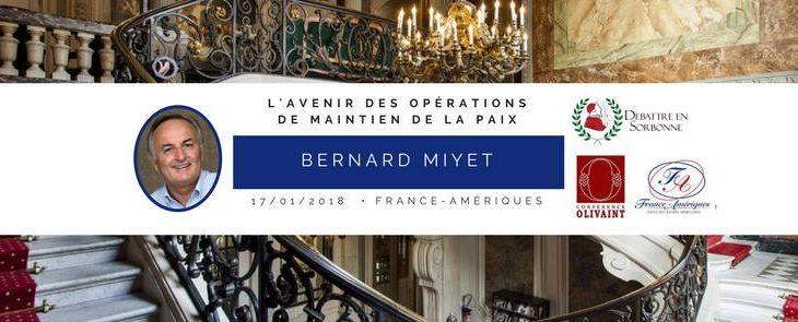 Conférence de l'Ambassadeur Bernard Miyet et Galette des Rois – le 17/01/2018 à 20h