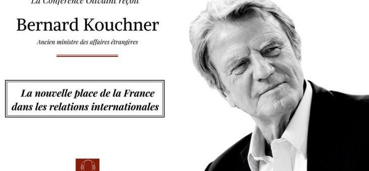 Rencontre avec Bernard Kouchner, ancien ministre des Affaires étrangères – le 06/03/2018 à 20h