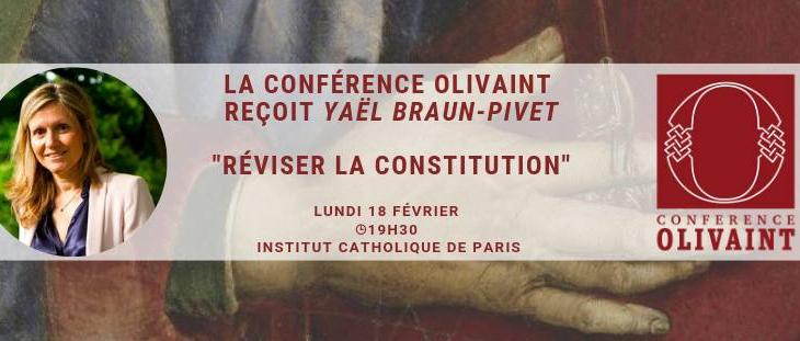 La Conférence Olivaint reçoit Yaël Baun-Pivet – le 18/02/2019 à 19h30