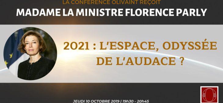 La Conférence Olivaint reçoit Madame La Ministre Florence Parly